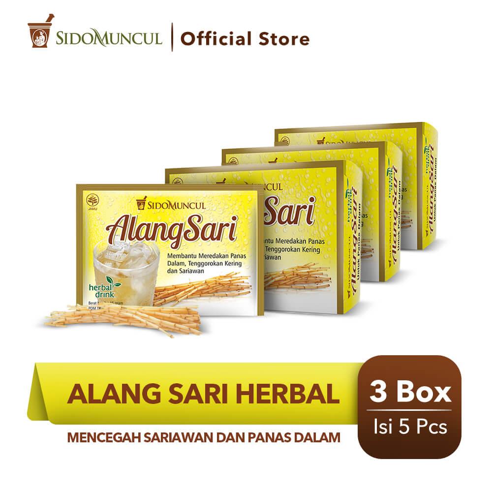 Alang Sari Herbal 3x5's - Mencegah Sariawan & Panas Dalam