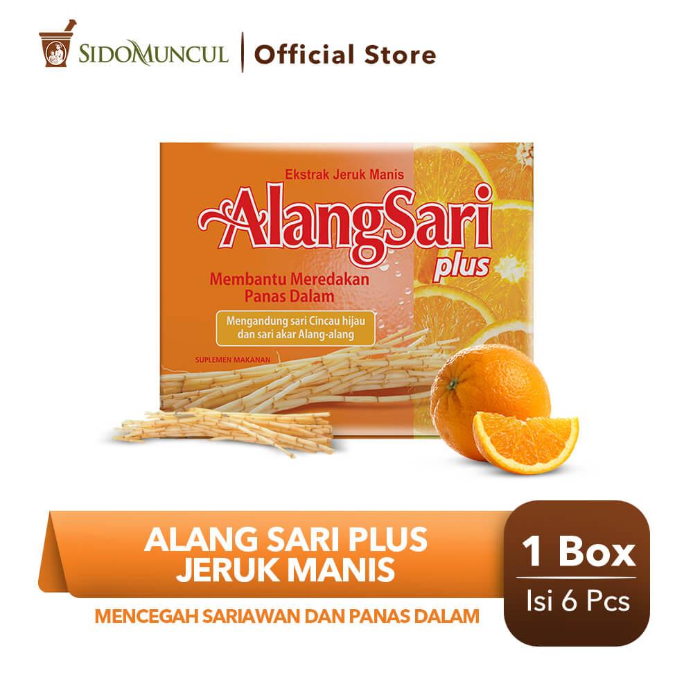 Alang Sari Plus Jeruk Manis 6's - Mencegah Sariawan & Panas Dalam