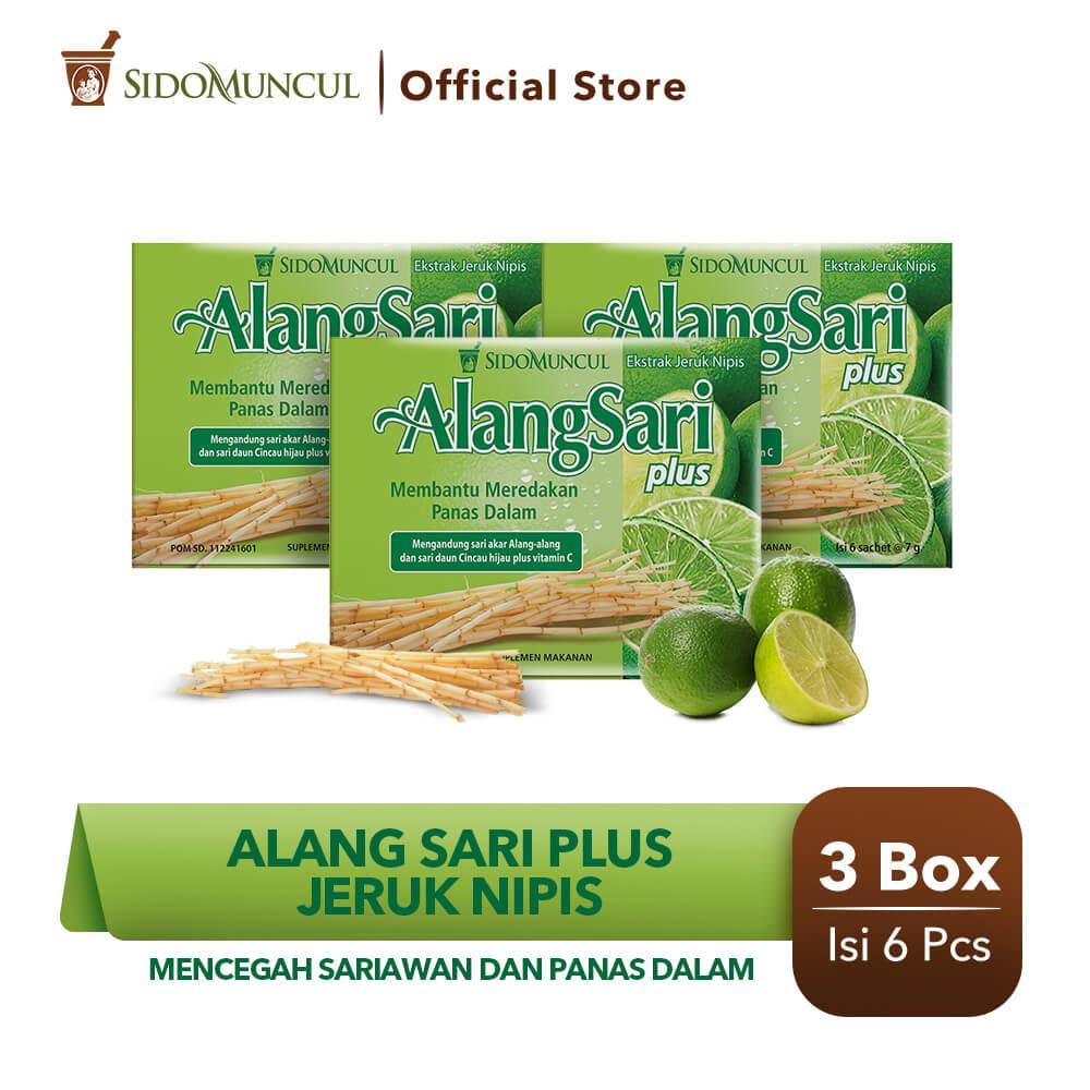 Alang Sari Plus Jeruk Nipis 3x6's - Mencegah Sariawan & Panas Dalam