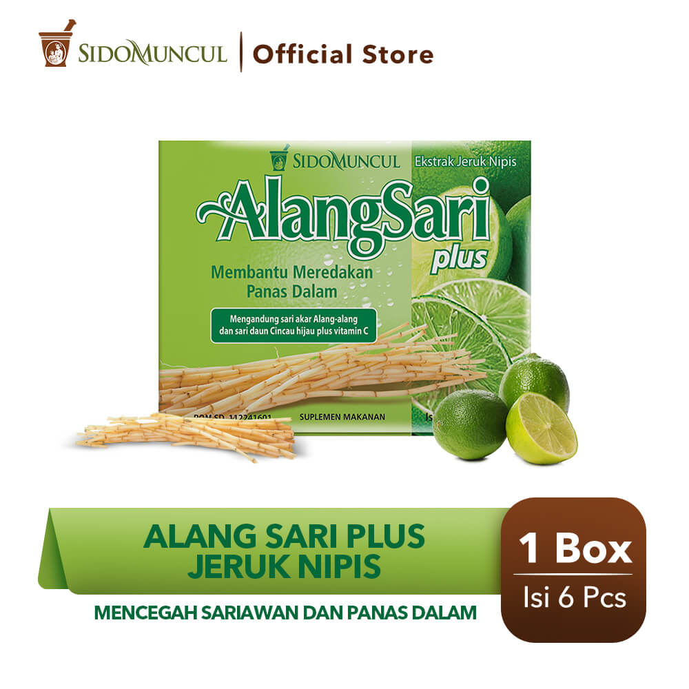 Alang Sari Plus Jeruk Nipis 6's - Mencegah Sariawan & Panas Dalam