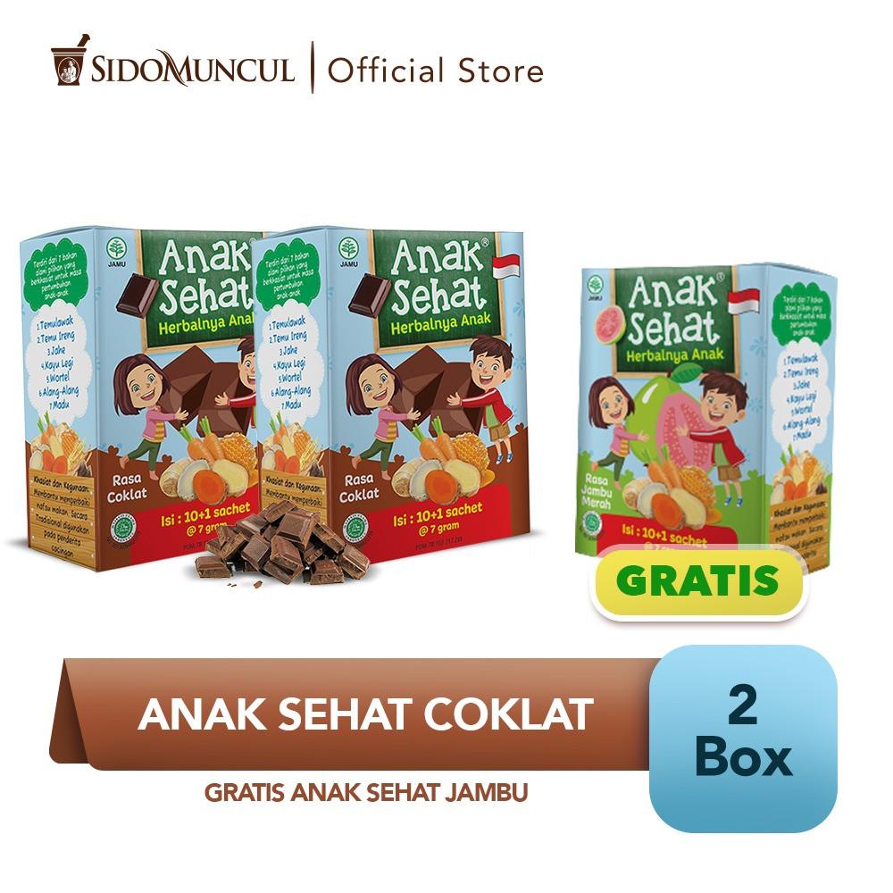 Anak Sehat Cokelat 2x10's FREE Anak Sehat Jambu - Nafsu Makan