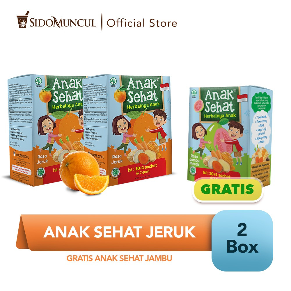 Anak Sehat Jeruk 2x10's FREE Anak Sehat Jambu - Nafsu Makan