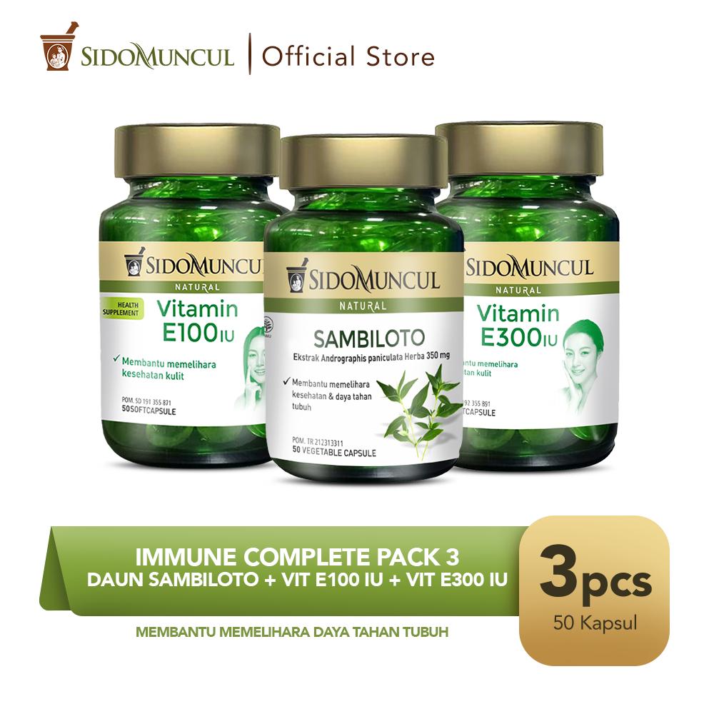 Immune Complete Pack 3 - Daun Sambiloto + Vit E100 IU + Vit E300 IU