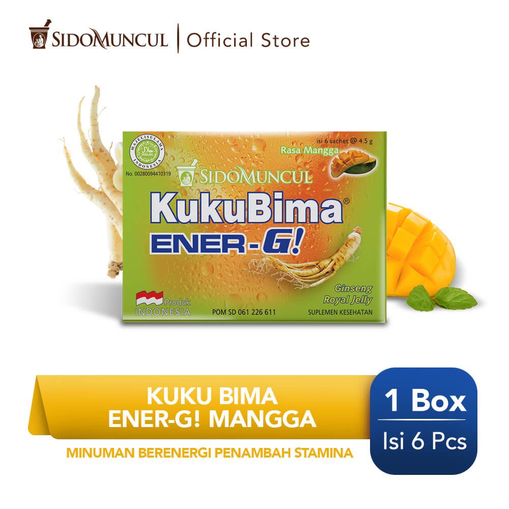Kuku Bima Ener-G Mangga 6's - Minuman Berenergi Penambah Stamina