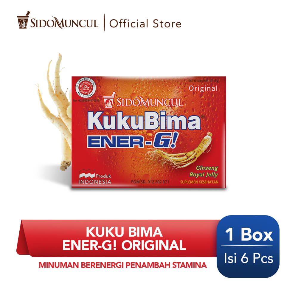Kuku Bima Ener-G Original 6's - Minuman Berenergi Penambah Stamina