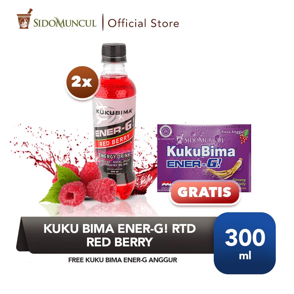 Kuku Bima Ener-G! RTD Red Berry 2x FREE Kuku Bima Ener-G Anggur