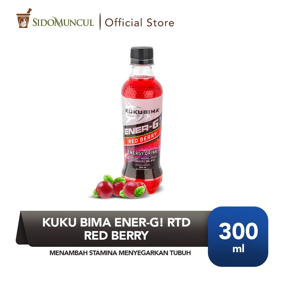 Kuku Bima Ener-G! RTD Red Berry Menambah Stamina Menyegarkan Tubuh