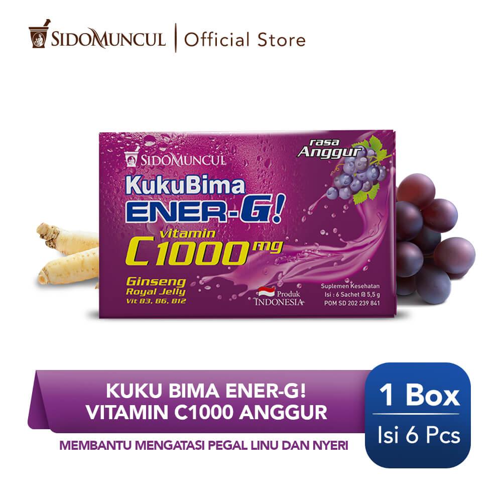 Kuku Bima Ener-G Vit C1000 Anggur 6's - Minuman Berenergi Vitamin