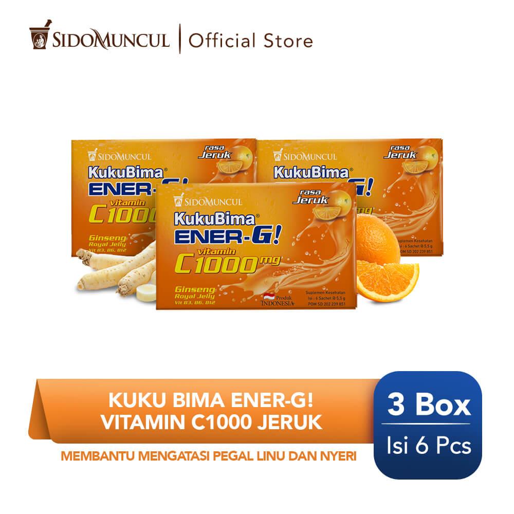 Kuku Bima Ener-G Vit C1000 Jeruk 3x6's - Minuman Berenergi Vitamin