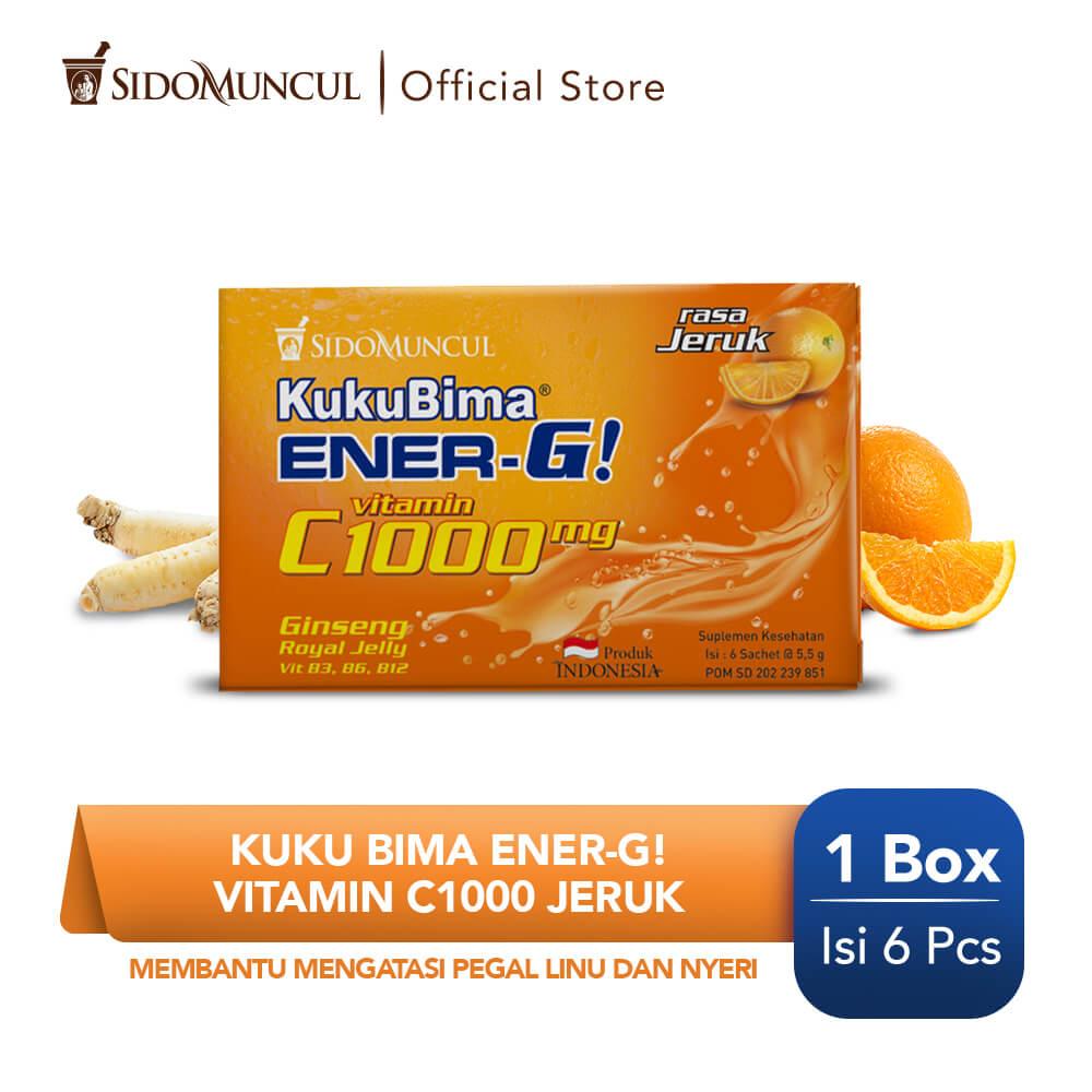 Kuku Bima Ener-G Vit C1000 Jeruk 6's - Minuman Berenergi Vitamin