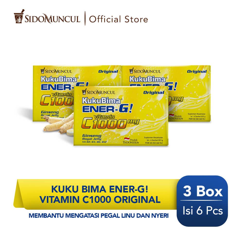 Kuku Bima Ener-G Vit C1000 Original 3x6's - Minuman Berenergi Vitamin