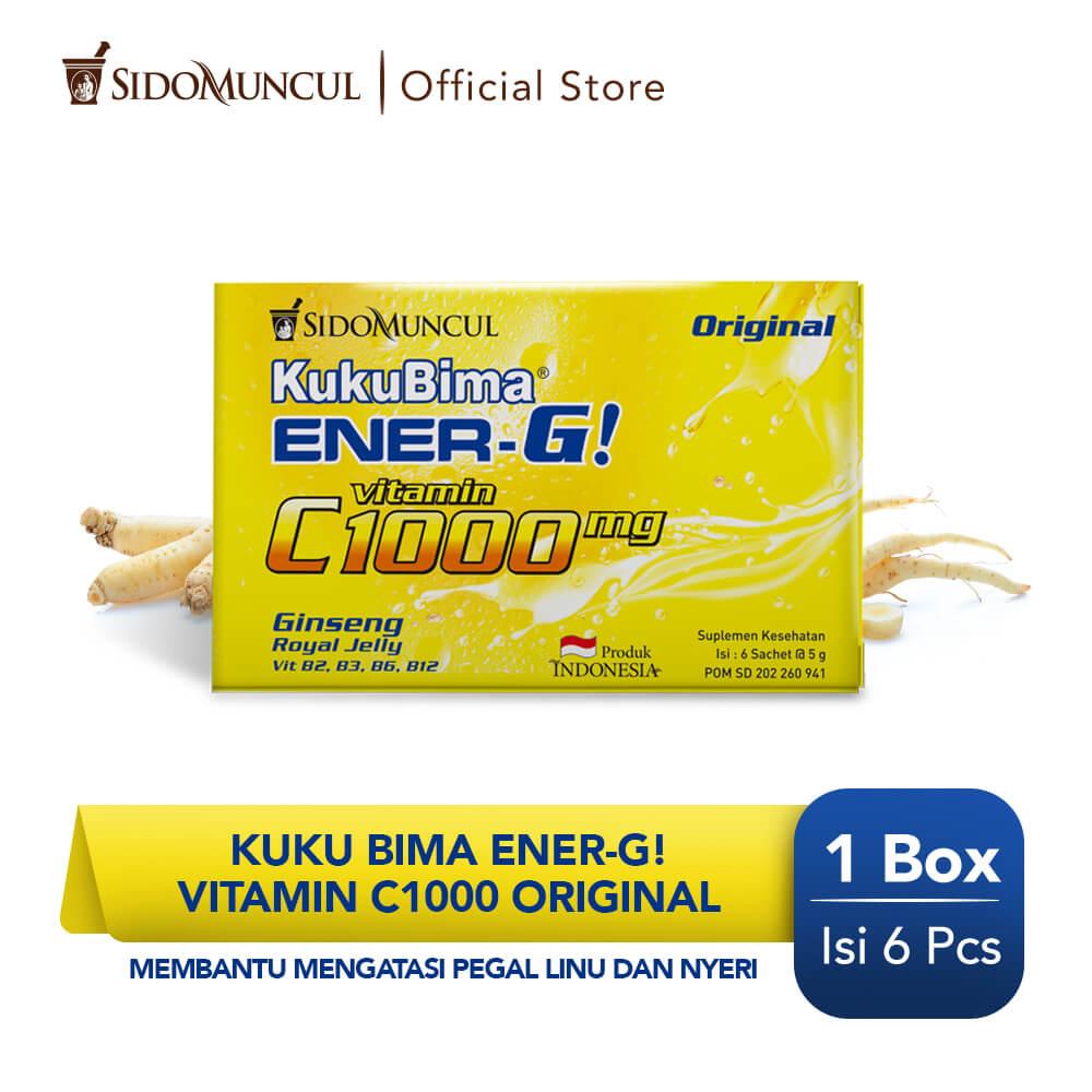 Kuku Bima Ener-G Vit C1000 Original 6's - Minuman Berenergi Vitamin