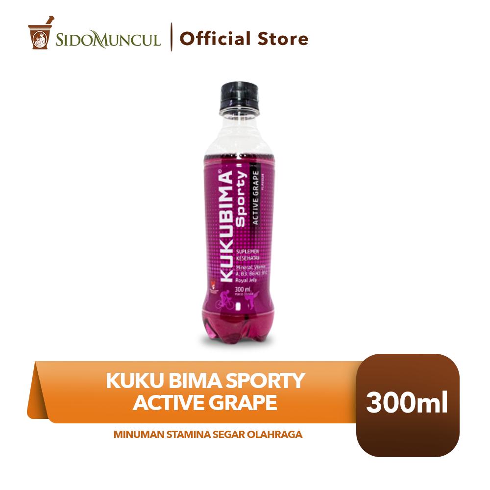 Kuku Bima Sporty Active Grape 300 ML Minuman Stamina Segar Olahraga
