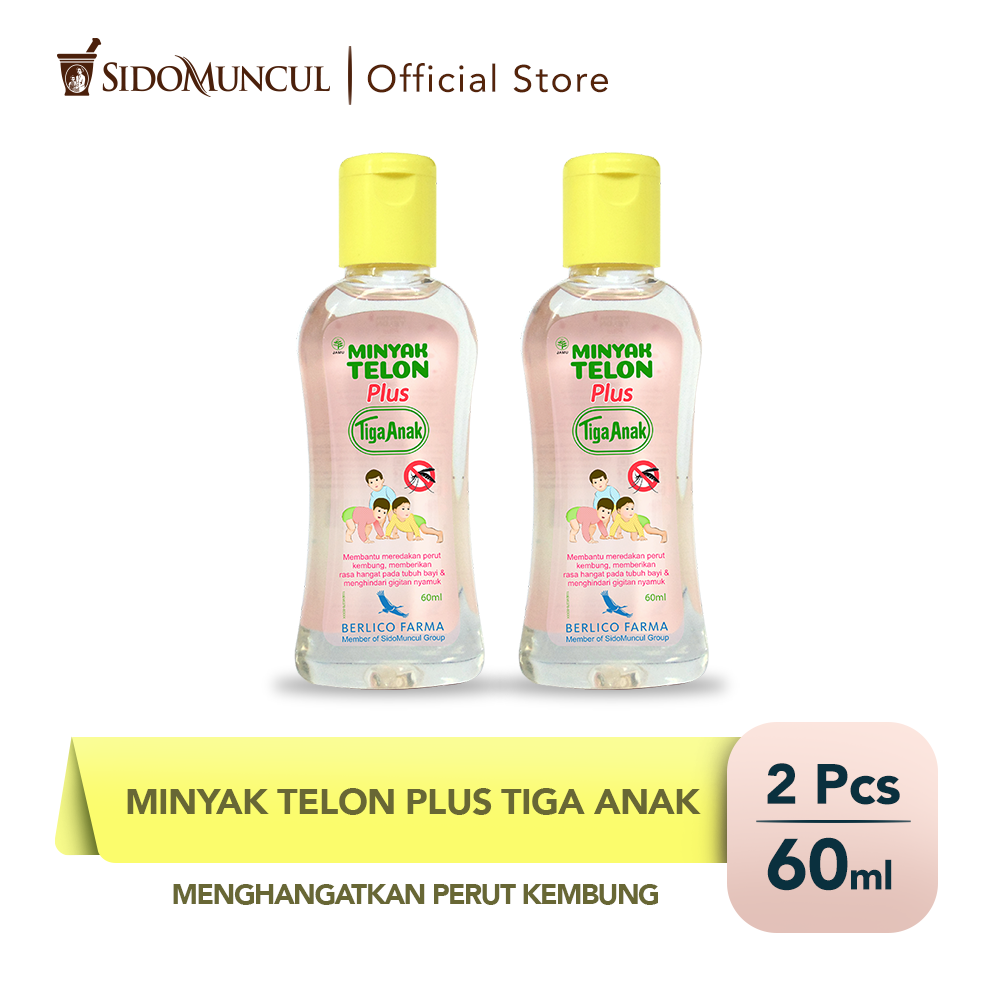 Minyak Telon Plus Tiga Anak 60mL (2 botol)