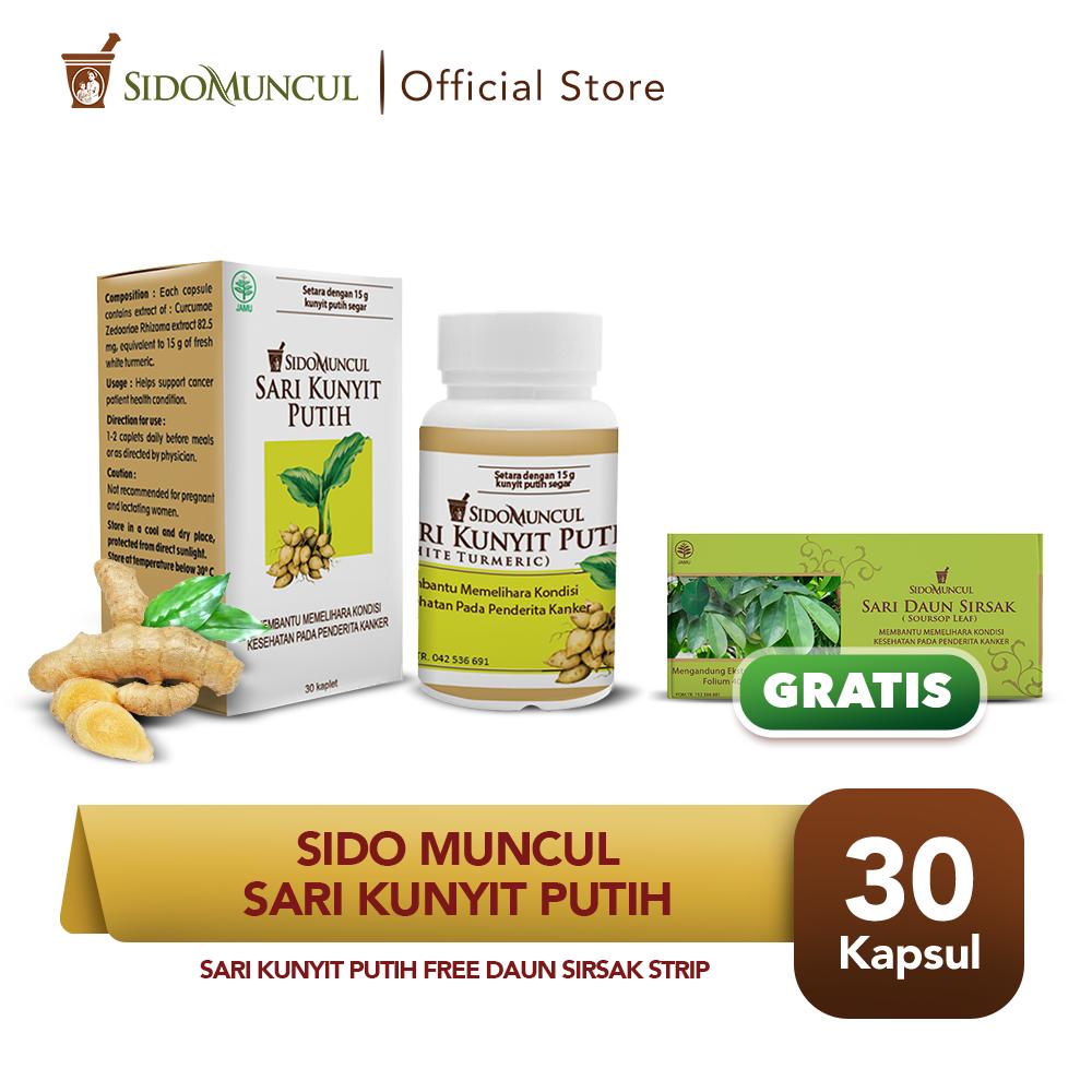 Paket 2 Cancer Day - Sari Kunyit Putih 30'k FREE Daun Sirsak Strip