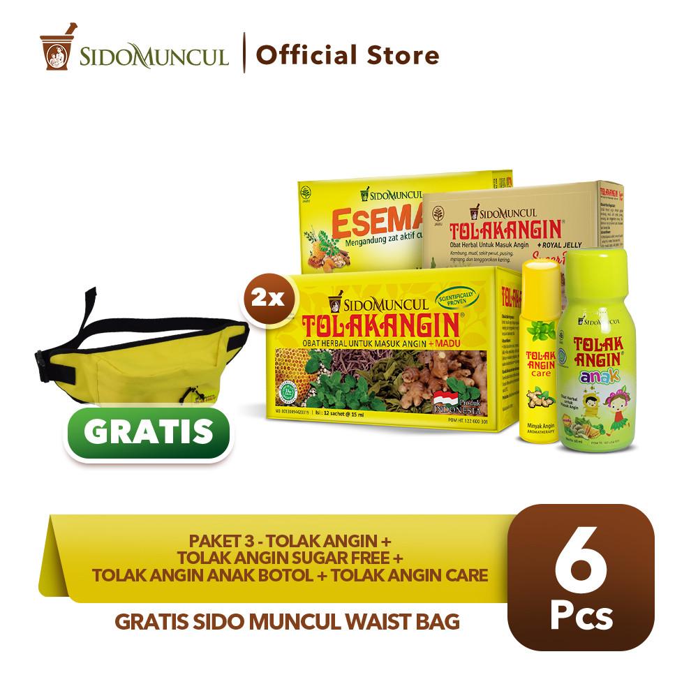 Paket 3 Tolak Angin Cair + Esemag + TAA Botol + TA Sugar GRATIS + TA Care Roll On