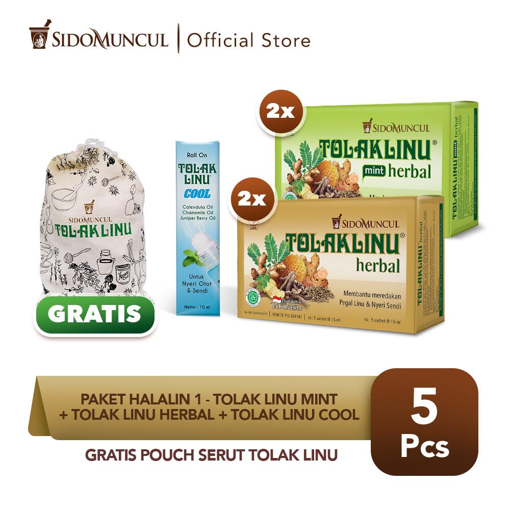 Paket HALALIN 1- Tolak Linu Mint + Tolak Linu Herbal + Tolak Linu Cool