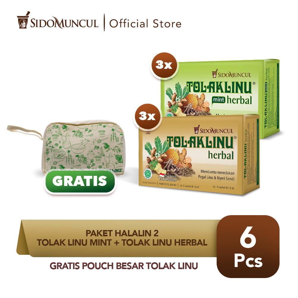 Paket HALALIN 2 - Tolak Linu Mint + Tolak Linu Herbal