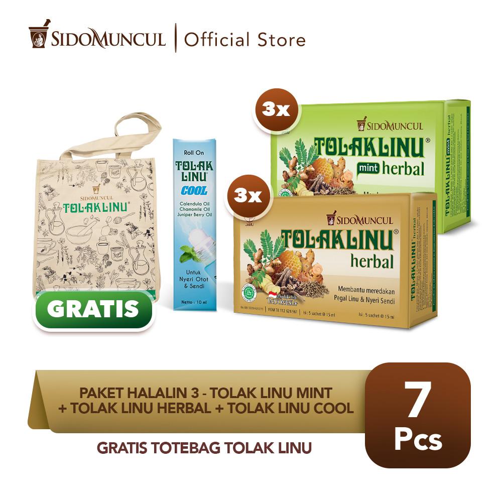 Paket HALALIN 3- Tolak Linu Mint + Tolak Linu Herbal + Tolak Linu Cool