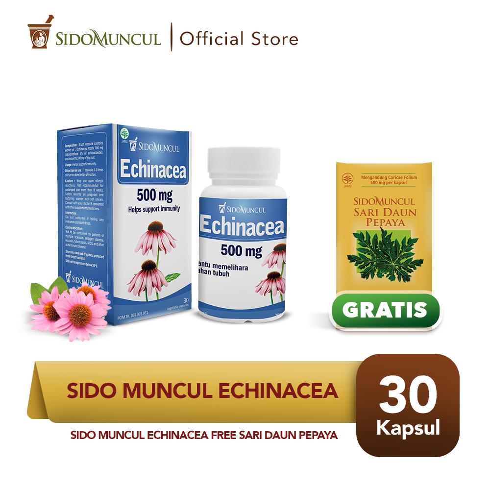 Paket Imun - Sido Muncul Echinacea 30'k FREE Sari Daun Pepaya 50'k