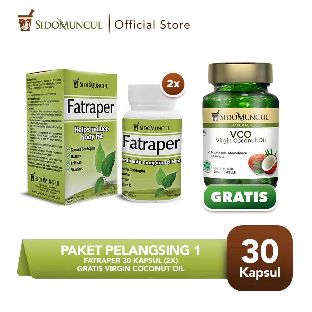 Paket Pelangsing 1 -  Fatraper 30'k (2 btl) FREE Virgin Coconut Oil
