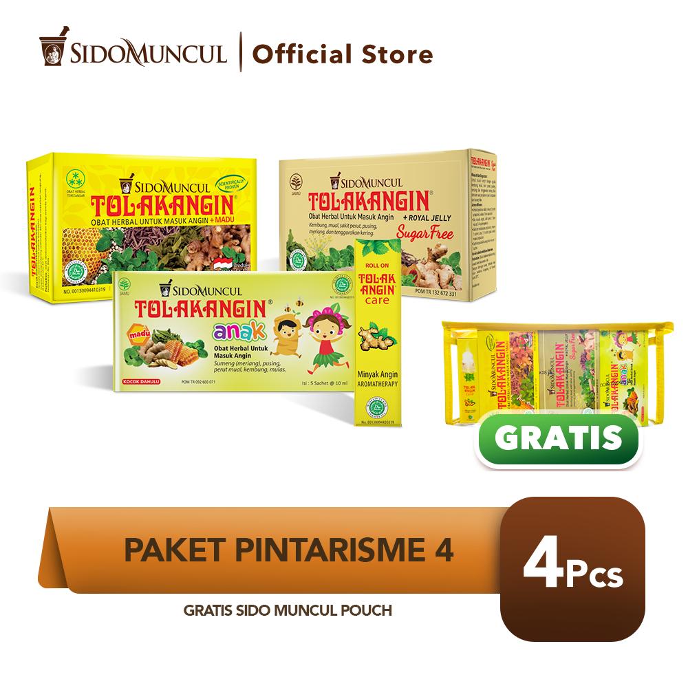 Paket Pintarisme 4 FREE Pouch Tolak Angin Cair Bebas Gula Care Anak