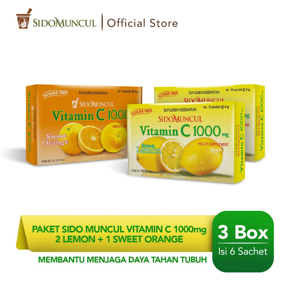 Paket Sido Muncul Vitamin C 1000 mg (2 Lemon + 1 Jeruk Manis)