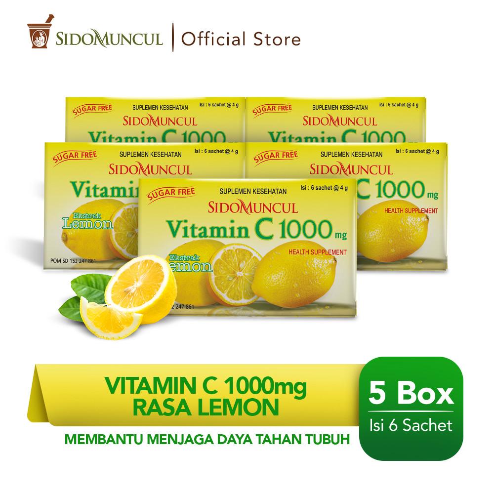 Paket Sido Muncul Vitamin C 1000 mg Lemon (5 Pack)