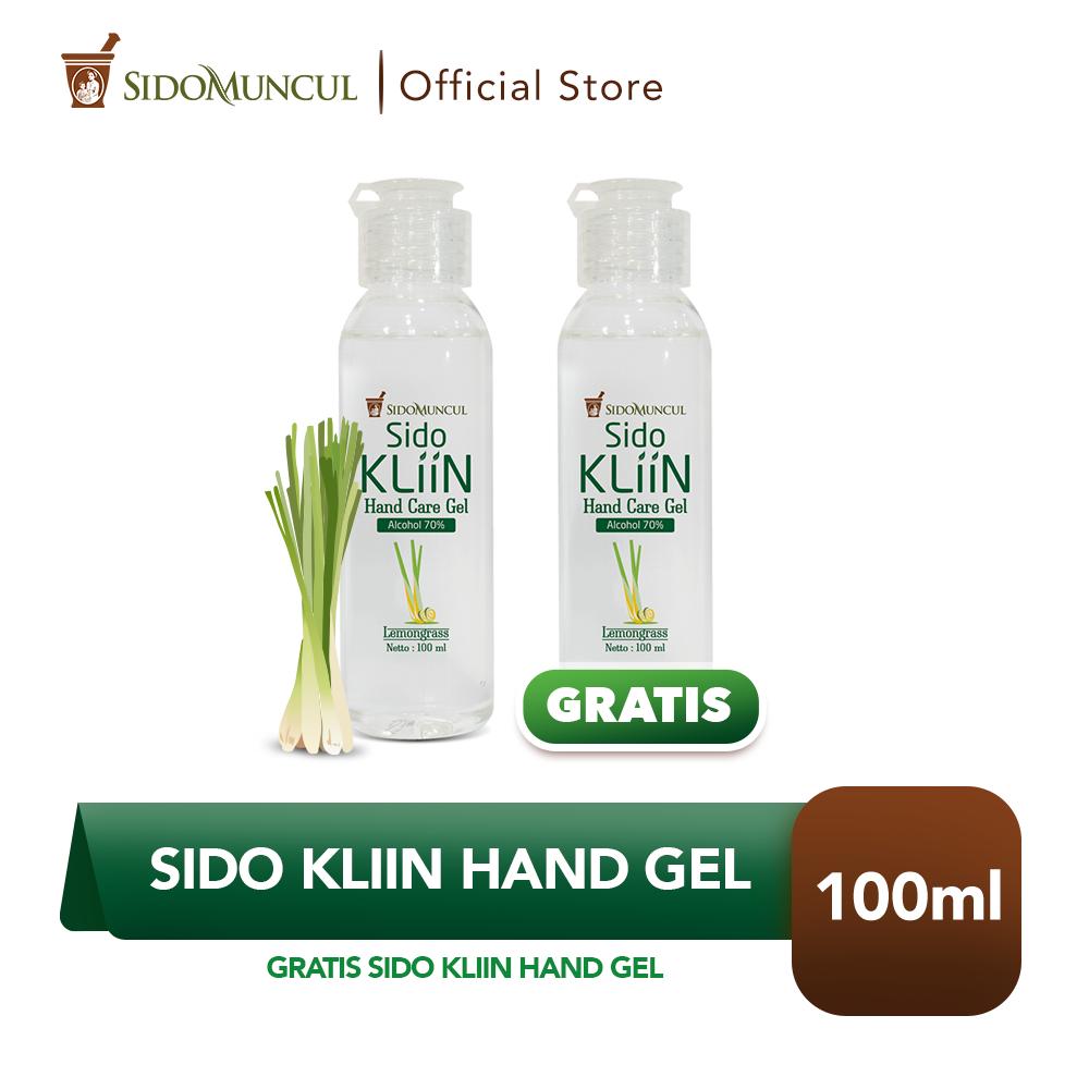 Sido Kliin Hand Gel 70% Alcohol 100 ml Pembersih Tangan - Buy 1 Get 1