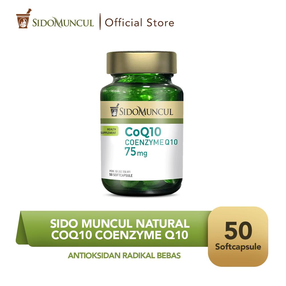 Sido Muncul CoQ10 Coenzyme Q10 Soft Capsule Antioksidan Radikal Bebas