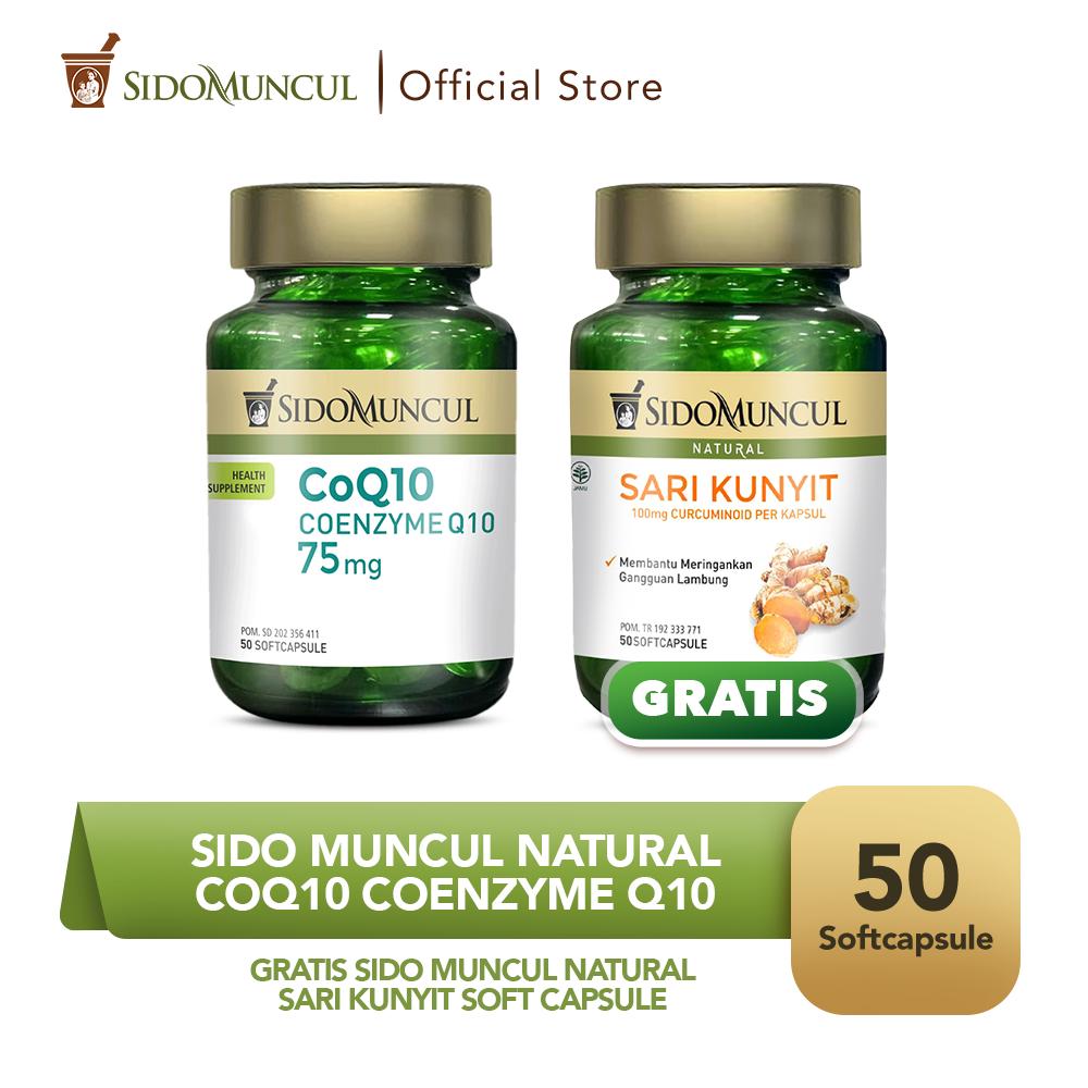 Sido Muncul CoQ10 Coenzyme Q10 Soft Capsule FREE Sari Kunyit SC