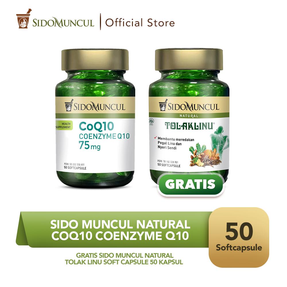 Sido Muncul CoQ10 Coenzyme Q10 Soft Capsule FREE Tolak Linu SC