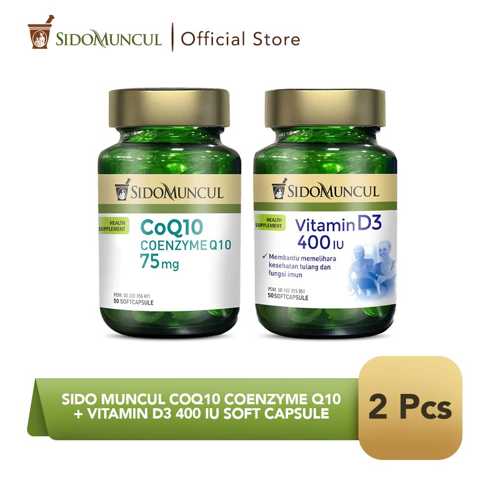 Sido Muncul CoQ10 Coenzyme Q10 + Vitamin D3 400 IU Soft Capsule
