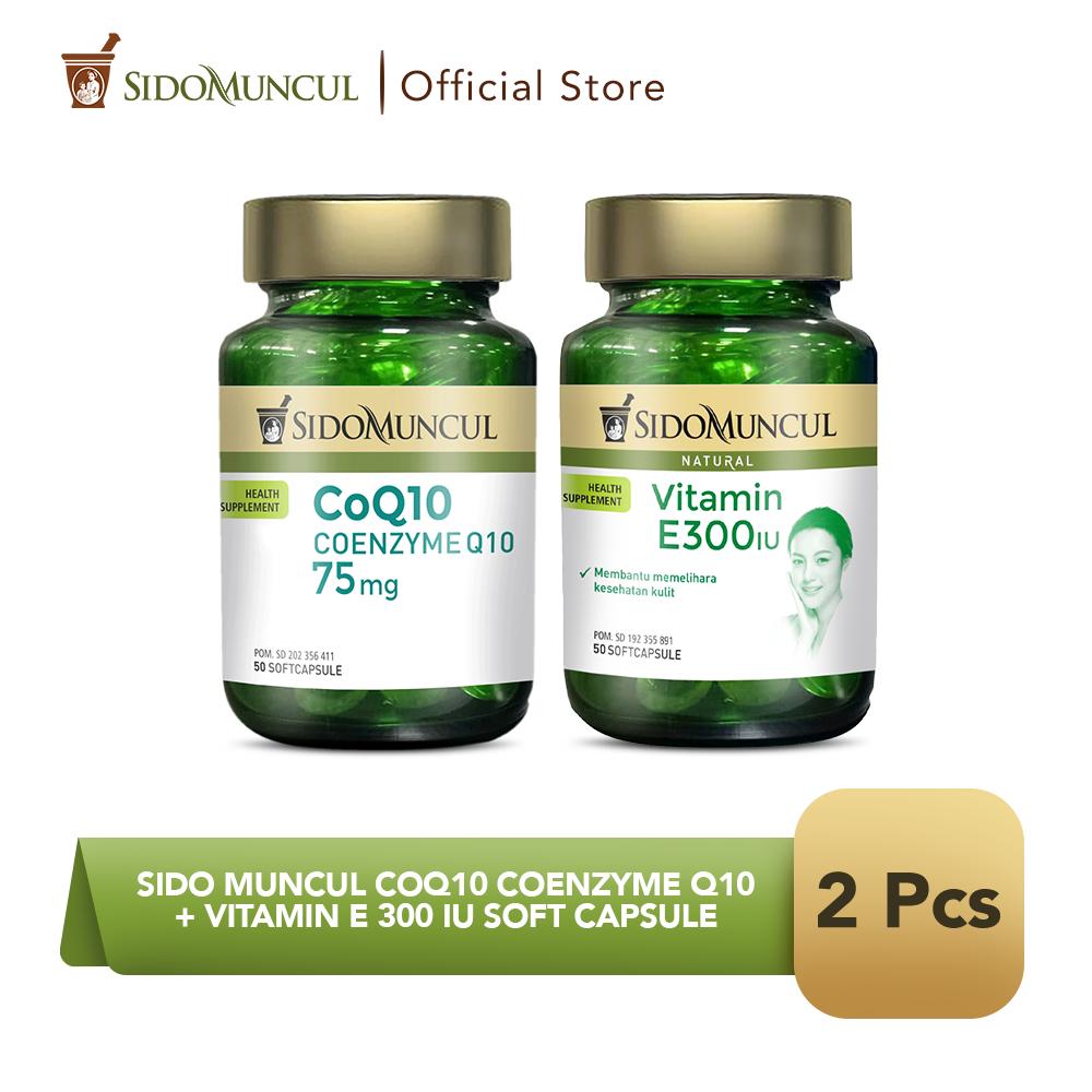 Sido Muncul CoQ10 Coenzyme Q10 + Vitamin E 300 IU Soft Capsule