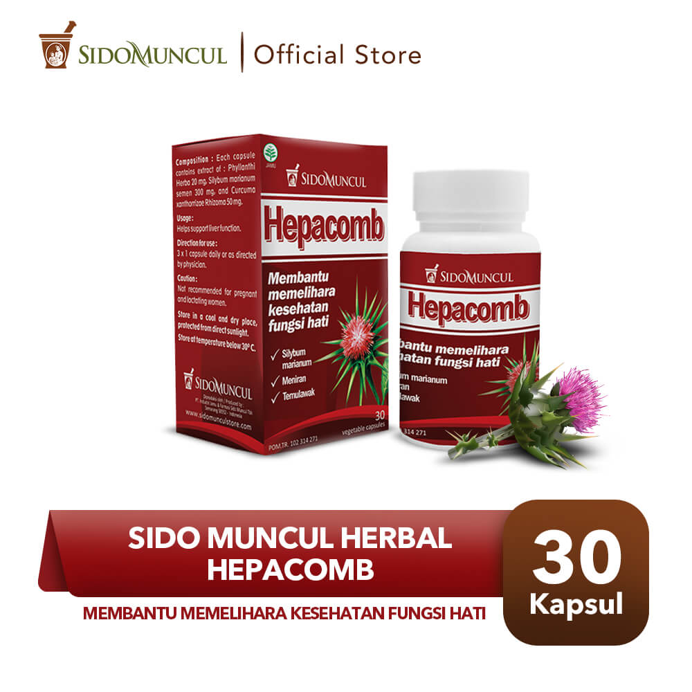 Sido Muncul Herbal Hepacomb 30 Kapsul - Kesehatan Fungsi Hati