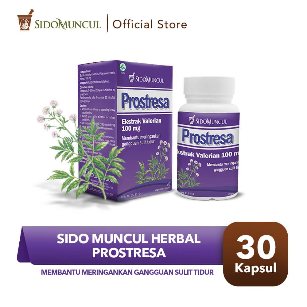 Sido Muncul Herbal Prostresa 30 Kapsul - Susah Tidur Gelisah Stress