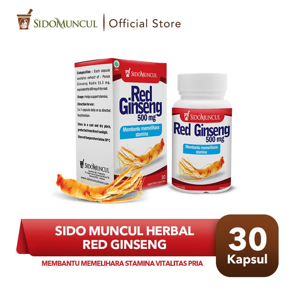 Sido Muncul Herbal Red Ginseng 30'k - Stamina Vitalitas Seksual Pria