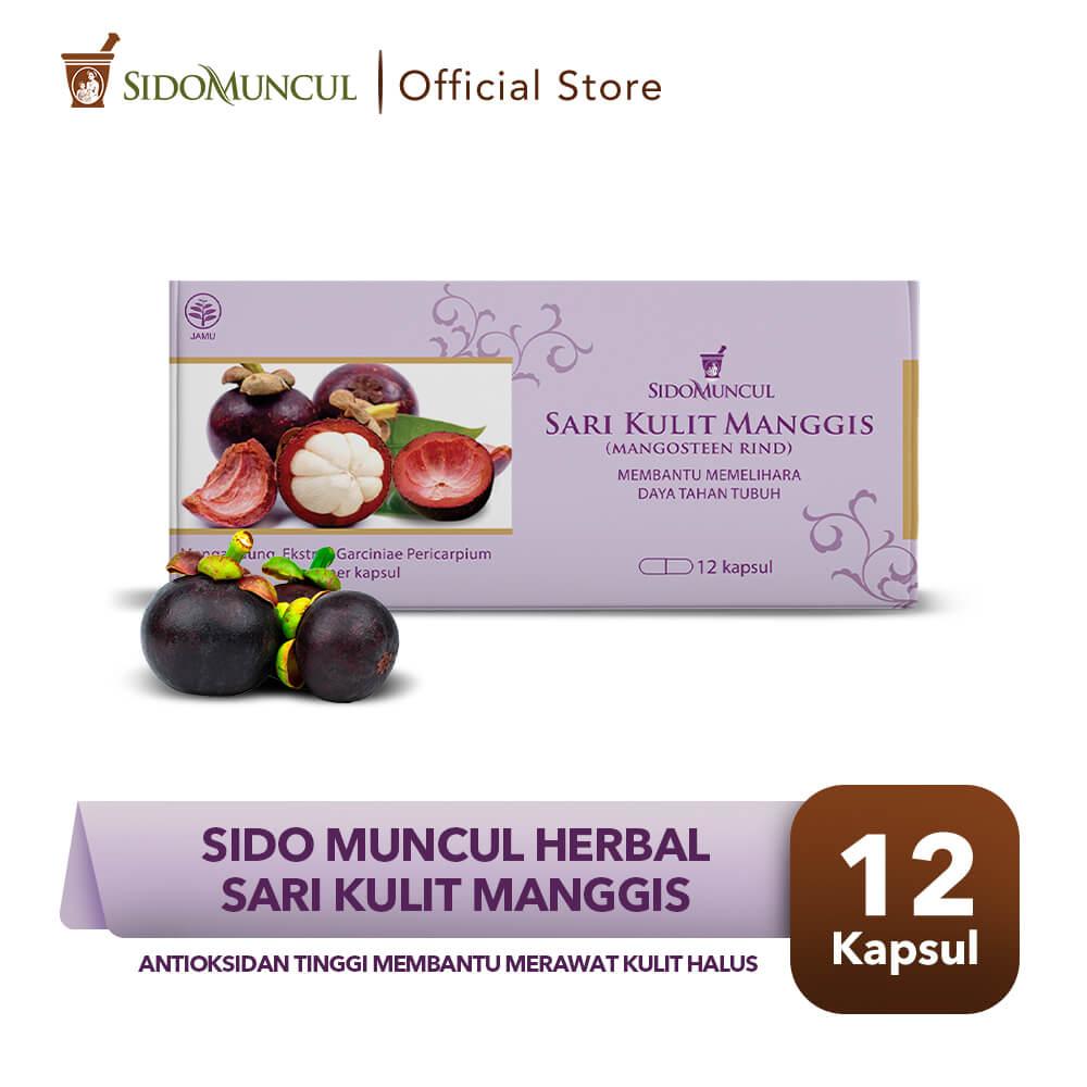 Sido Muncul Herbal Sari Kulit Manggis Strip 12 Kapsul - Antioksidan