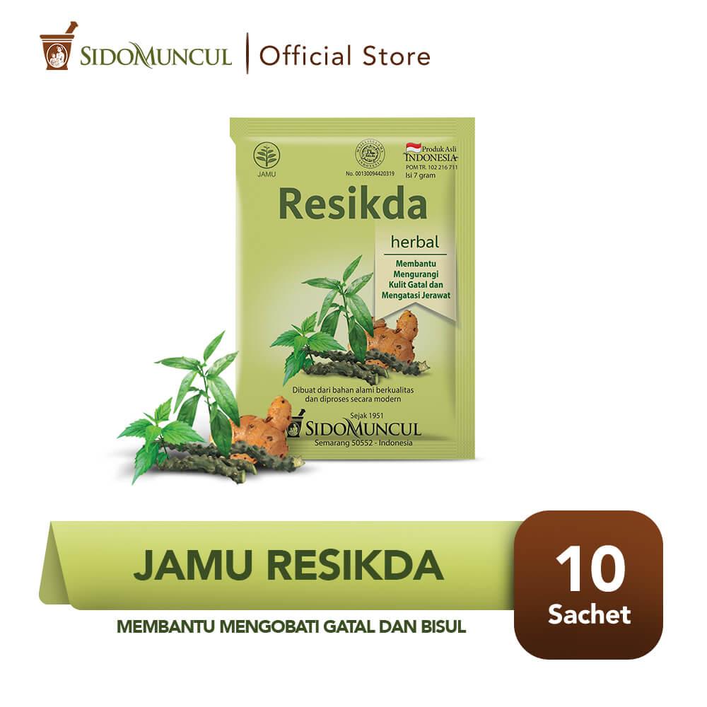 Sido Muncul Jamu Resikda 10's - Obat Herbal Gatal dan Bisul