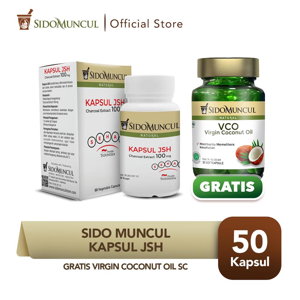 Sido Muncul Kapsul JSH 50k Ekstrak Charcoal FREE Virgin Coconut Oil SC