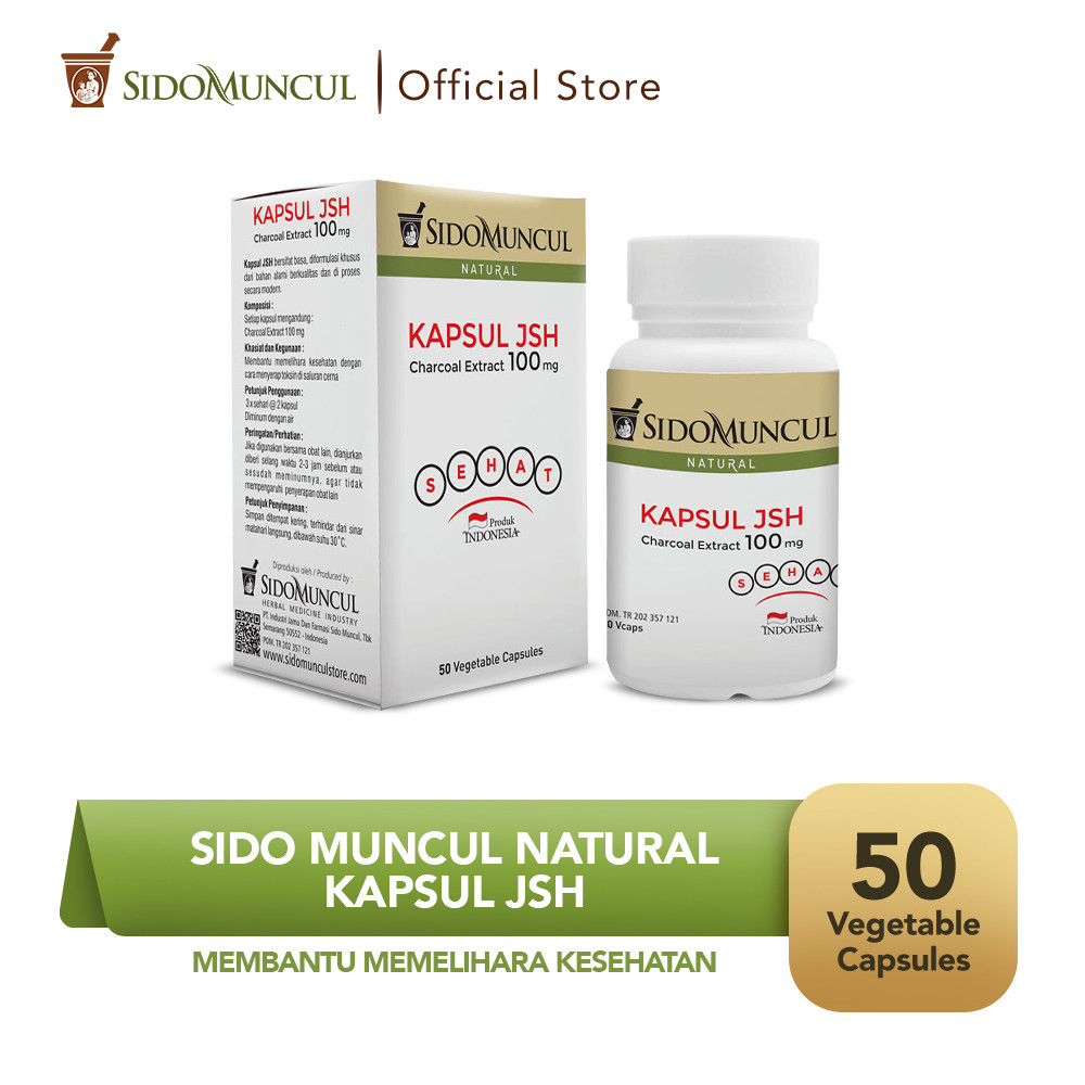 Sido Muncul Kapsul JSH (50'k) - Ekstrak Charcoal Menyerap Toksin
