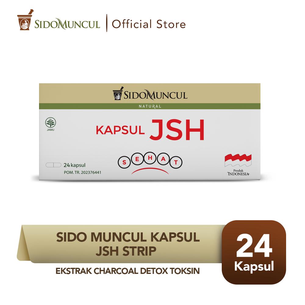 Sido Muncul Kapsul JSH Strip (24'k) - Ekstrak Charcoal Detox Toksin