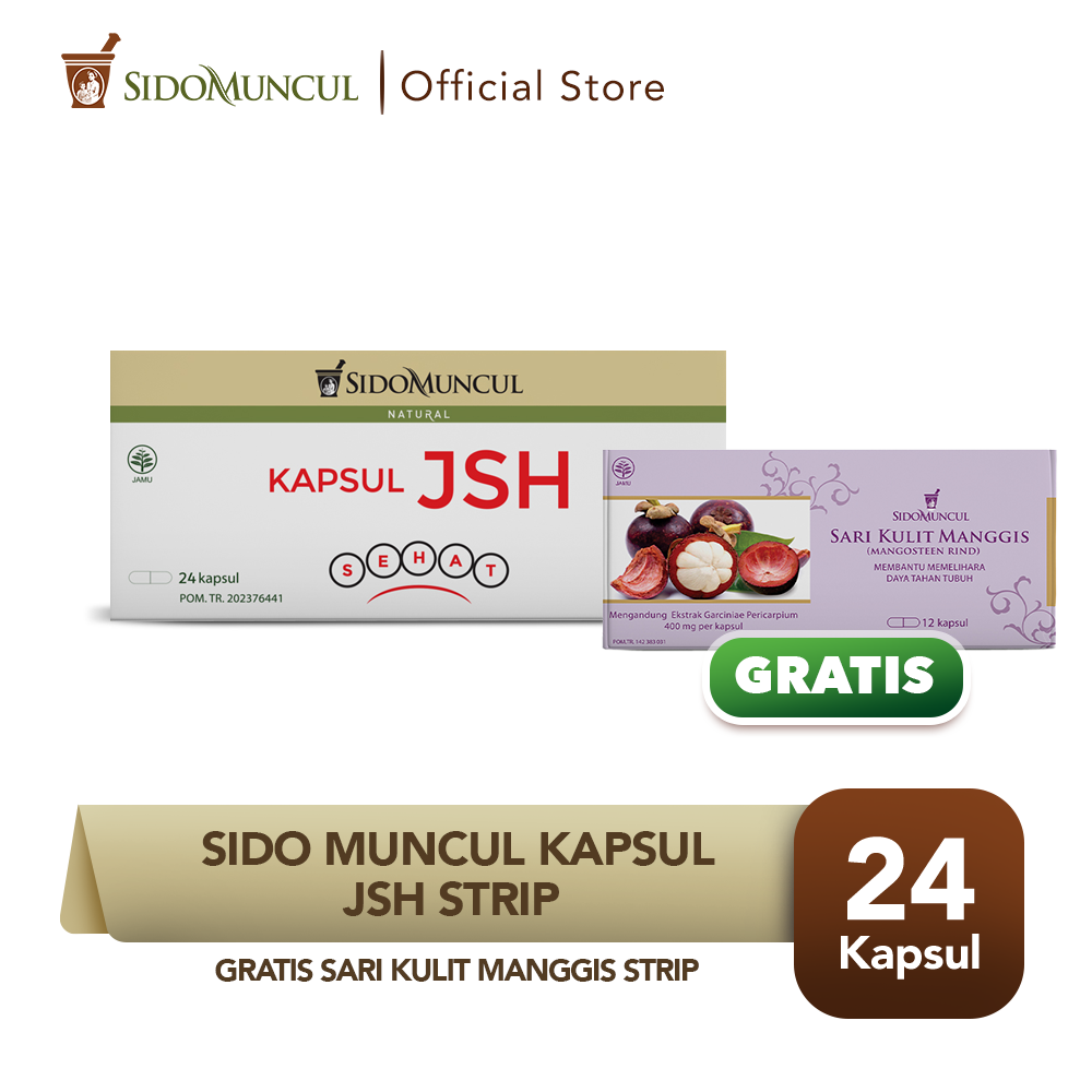 Sido Muncul Kapsul JSH Strip Ekstrak Charcoal Detox Toksin Buy 1 Get 1