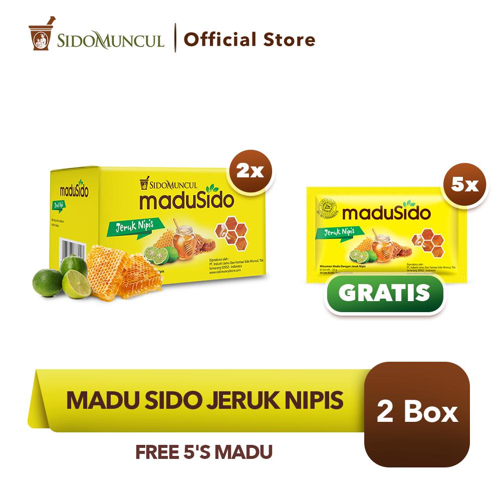 Sido Muncul Madu Sido Jeruk Nipis 2x10's Murni - FREE 5's Madu