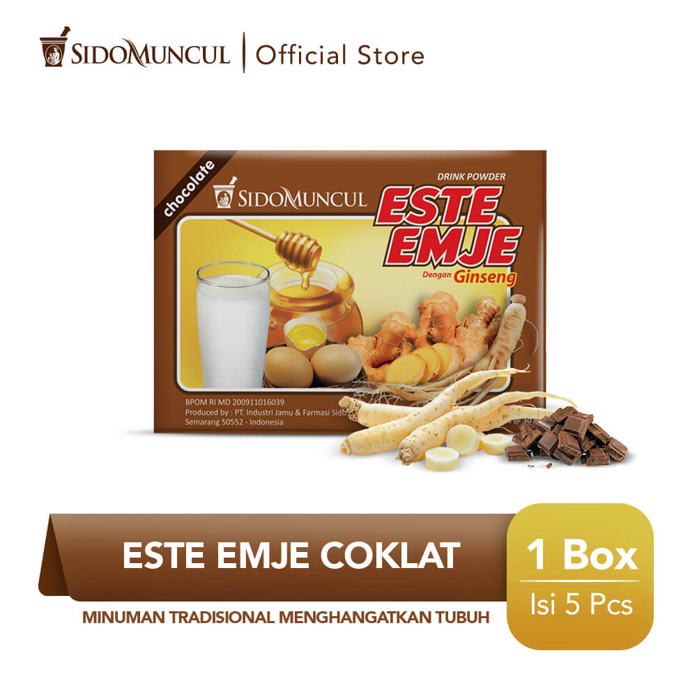 Sido Muncul Minuman Este Emje Coklat 5's - Menghangatkan Tubuh