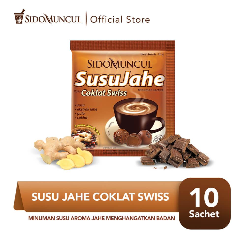 Sido Muncul Minuman Susu Jahe Coklat Swiss 10's - Menghangatkan Tubuh