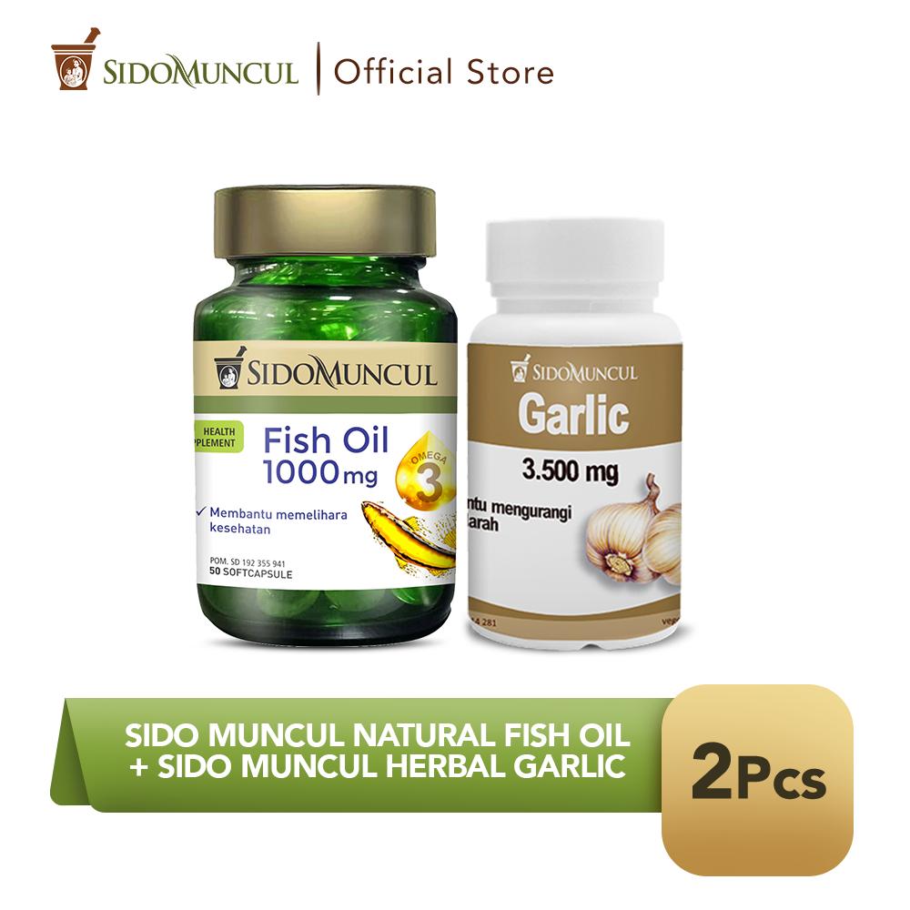 Sido Muncul Natural Fish Oil SC 50'k + Sido Muncul Herbal Garlic 30'k
