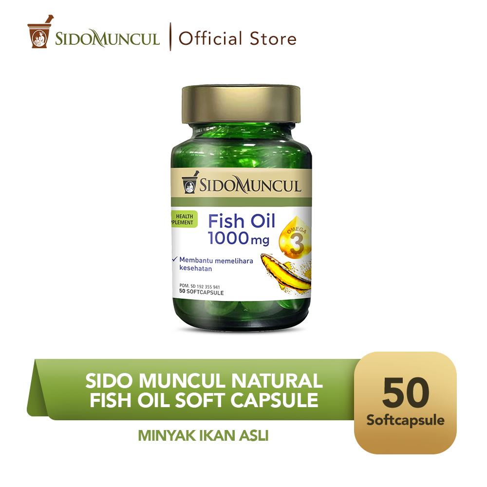 Sido Muncul Natural Fish Oil Soft Capsule 50 Kapsul Minyak Ikan Asli