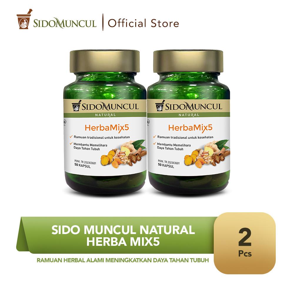 Sido Muncul Natural HerbaMix5 (2 botol) - Ramuan Herbal Alami