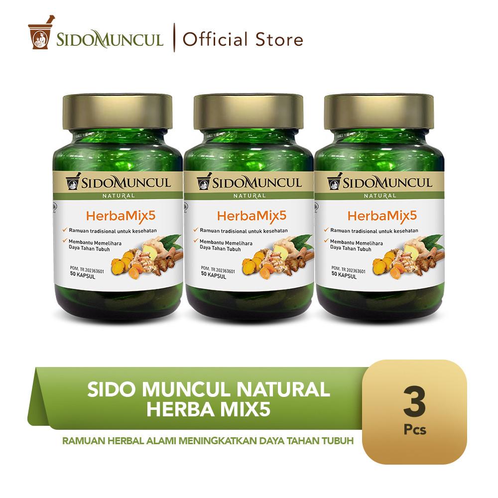 Sido Muncul Natural HerbaMix5 (3 botol) - Ramuan Herbal Alami
